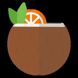 Ícone de coquetel de coco
