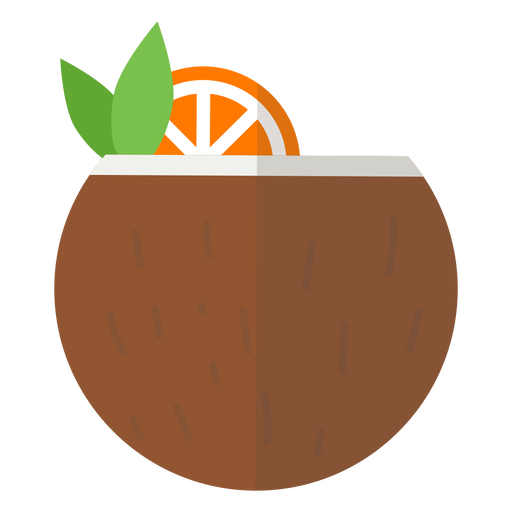 Coconut cocktail icon Transparent PNG