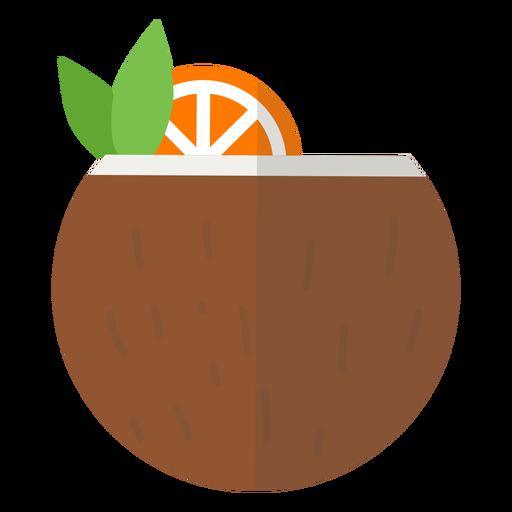 Icono de coctel de coco