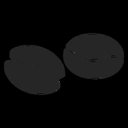 Ícone plana de grãos de café
