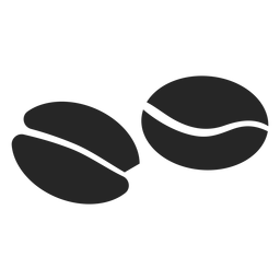 Kaffeebohne flach Symbol