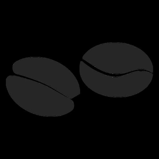 Icono plano de grano de café Transparent PNG