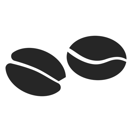 Icono plano de grano de café