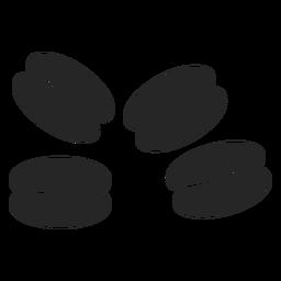 Icono plano de los granos de café