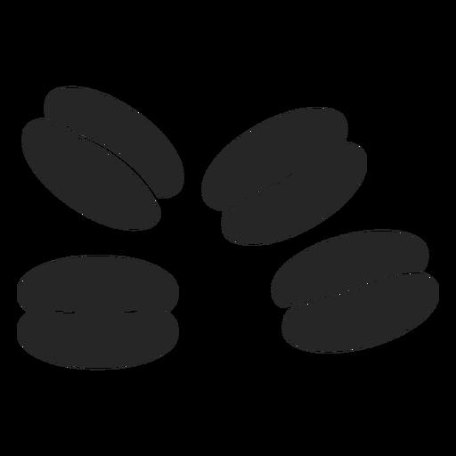 Ícone plana de grãos de café Transparent PNG