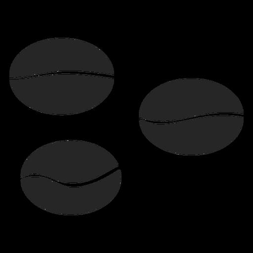 Ícone de grãos de café Transparent PNG