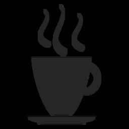 Café, copo, apartamento, ícone