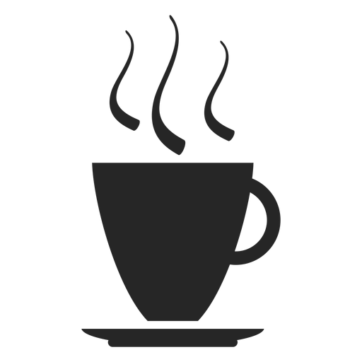 Icono plano de la taza de café Transparent PNG