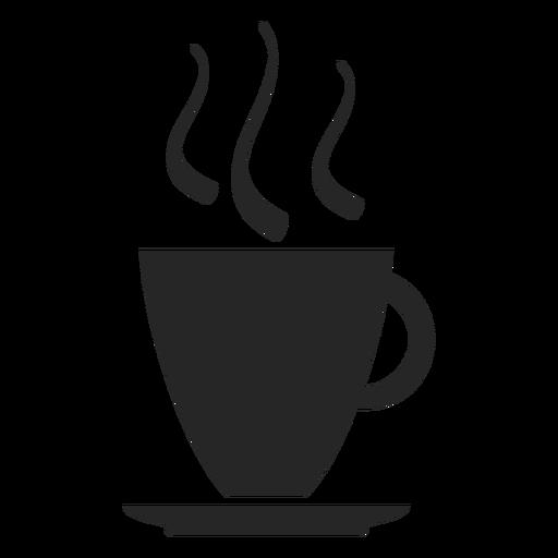 Icono plano de la taza de café