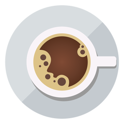 Coffee cup top view icon