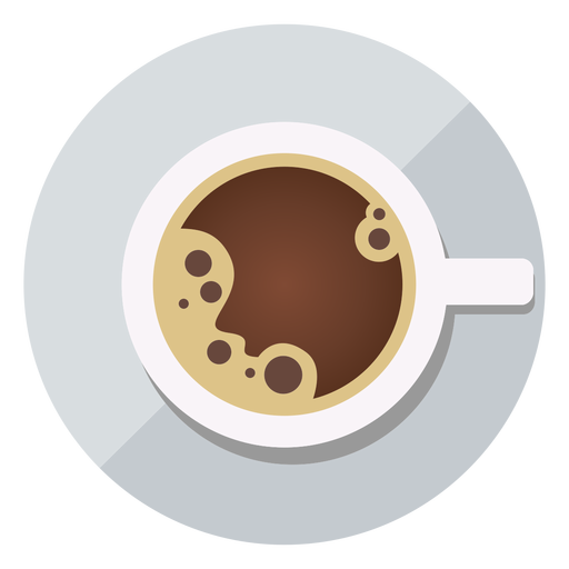 Coffee cup top view icon Transparent PNG