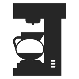 Icono plano de cafetera