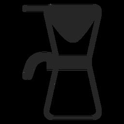 Ícone de traçado de cafeteira