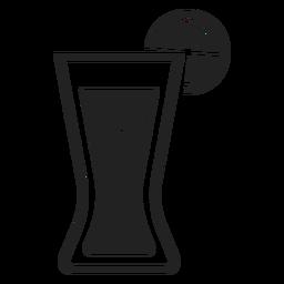 Cola mit Zitrone Glas flach Symbol