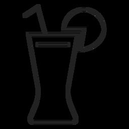 Coca con el icono de vaso de limón