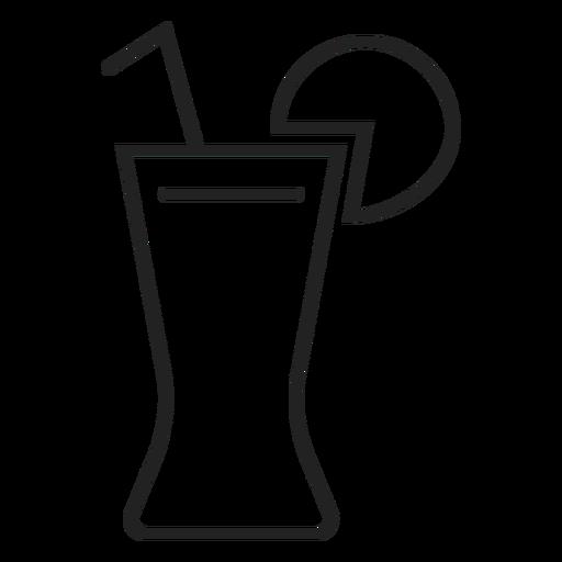 Coca con el icono de vaso de limón Transparent PNG