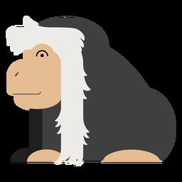 Ilustración de mono colobo
