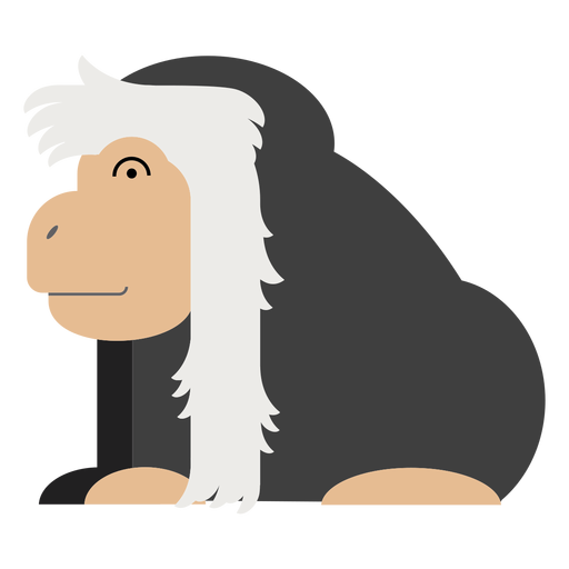 Colobus monkey illustration Transparent PNG