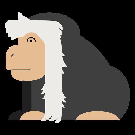 Ilustración de mono colobo Transparent PNG
