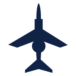 Combat airplane top view silhouette