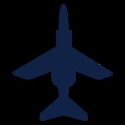 Silhueta de vista superior do avião de combate