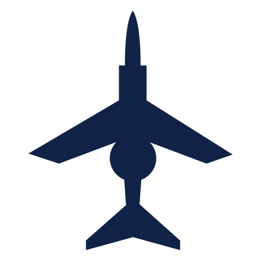 Combat airplane top view silhouette Transparent PNG