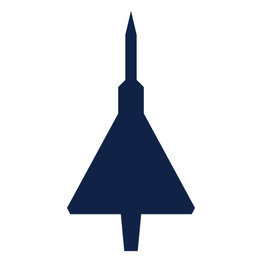 Concorde airplane top view silhouette Transparent PNG