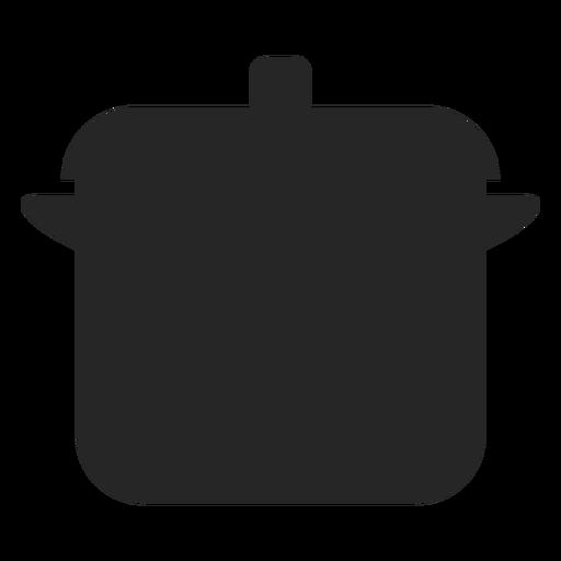 Icono plano de olla de cocina Transparent PNG