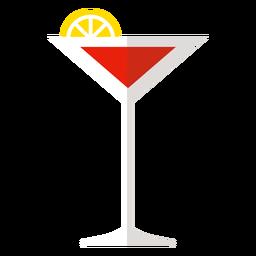 Icono de cóctel cosmopolita