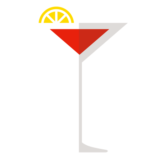 Icono de cóctel cosmopolita Transparent PNG