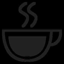 Coupe icono de taza de café plana