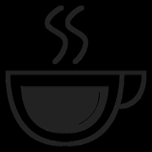 Coupe icono de taza de café plana Transparent PNG