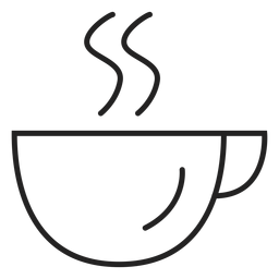 Coupe coffee cup icon