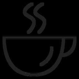 Icono de la taza de café cupé