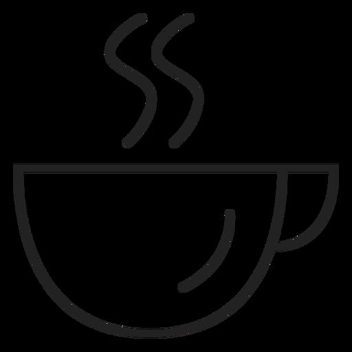Icono de la taza de café cupé Transparent PNG