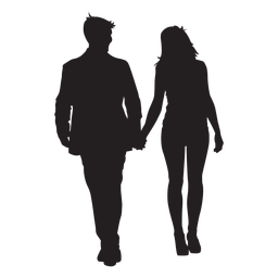 Paar, das Handschattenbild hält