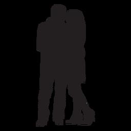 Paar umarmt Silhouette