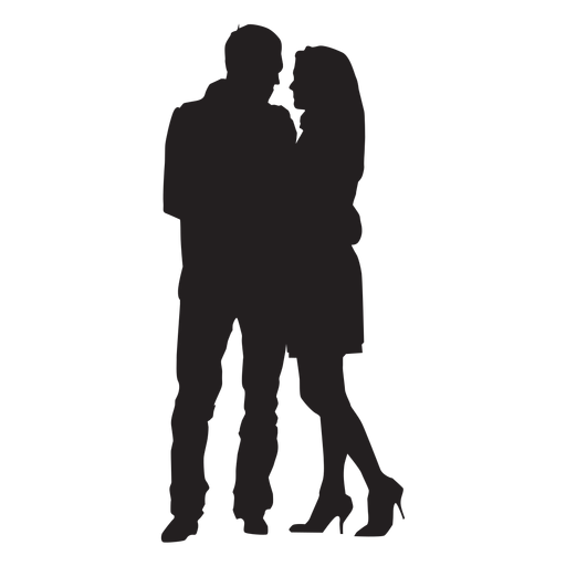 Couple hugging silhouette Transparent PNG