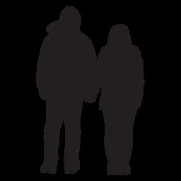 Paar in Jacke Silhouette