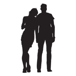 Couple in love silhouette