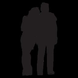 Paar in Liebesschattenbild