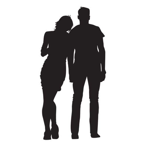 Couple in love silhouette Transparent PNG