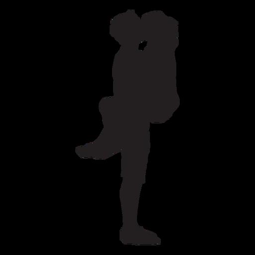 Pareja romántico beso silueta