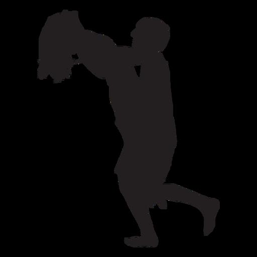 Couple romantic lift silhouette Transparent PNG