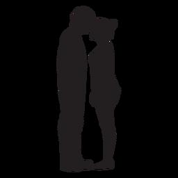 Paar starrt einander Silhouette an