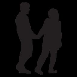 Silhueta de gesto doce casal