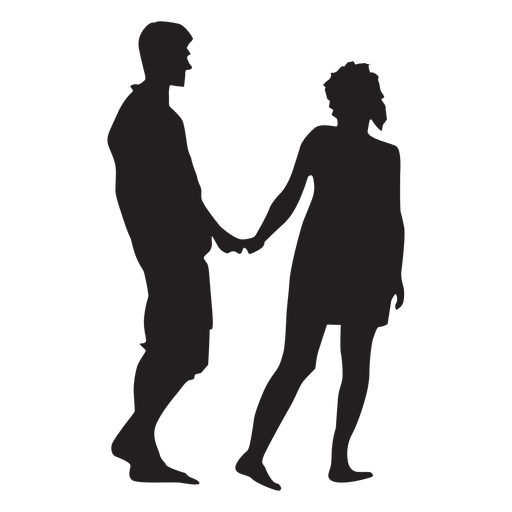 Couple sweet gesture silhouette Transparent PNG