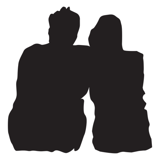 Couple sweet moment silhouette Transparent PNG