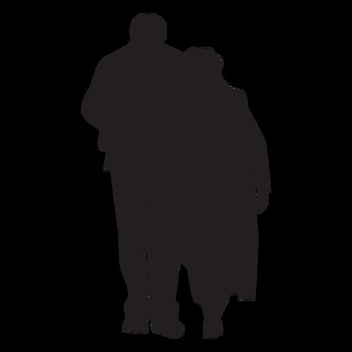 Pareja caminando juntos silueta Transparent PNG