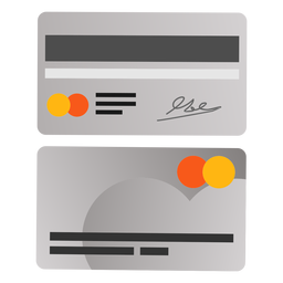 Cartão de crédito frente ícone de volta